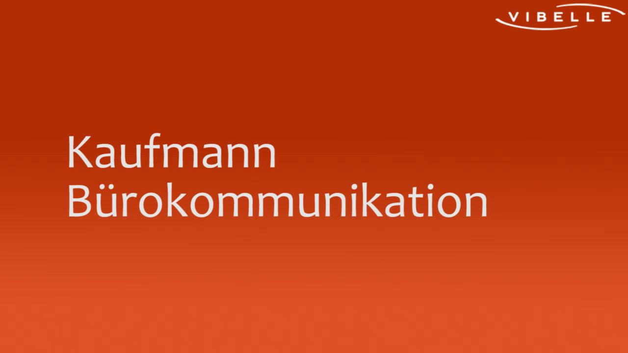 Kaufm./-frau Bürokommunikation