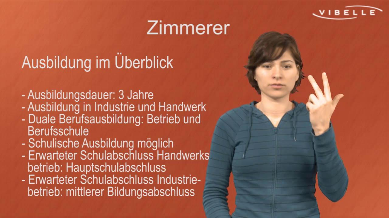Zimmerer/Zimmerin