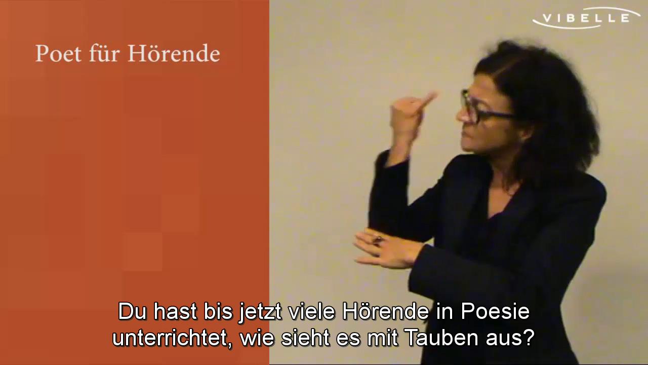 Poesie für Hörende