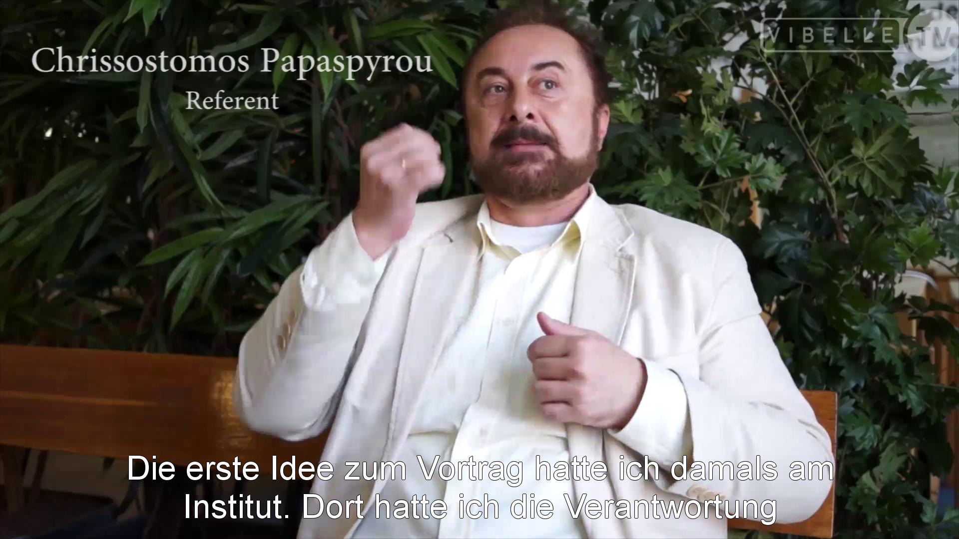 Chr. Papaspyrou über historische Wurzeln