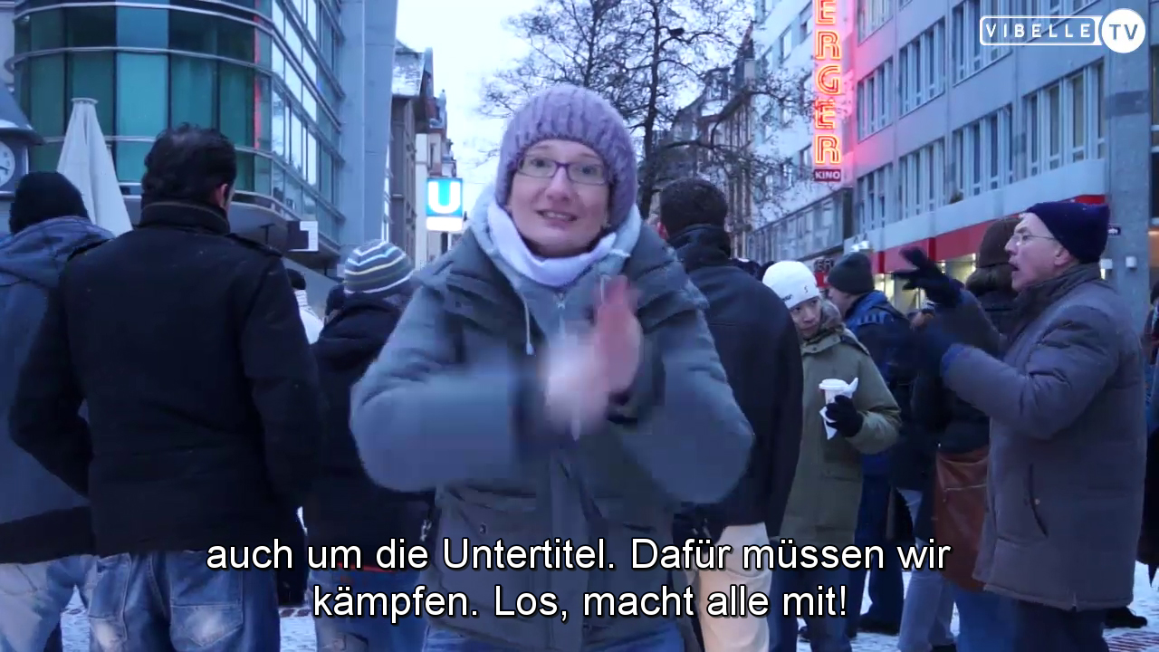 UT-Demo in Frankfurt am Main