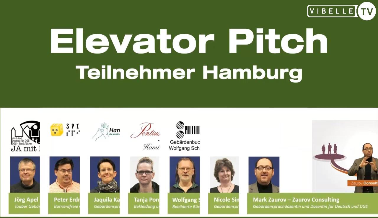 Elevator Pitch der Teilnehmer des DeafExist-Gründerkollegs Hamburg